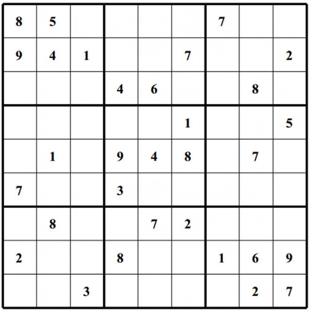 Free Sudoku Puzzles | Enjoy Daily Free Sudoku Puzzles From Walapie | Printable Sudoku Daily