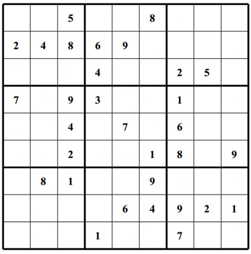 Free Sudoku Puzzles | Enjoy Daily Free Sudoku Puzzles From Walapie | Printable Sudoku Para Imprimir