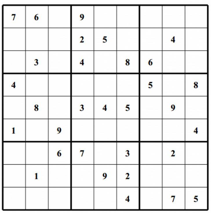 Printable Sudoku Solver