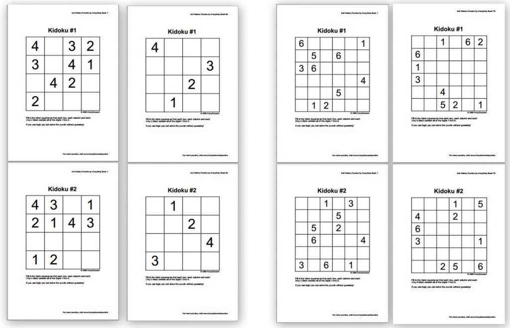 Free Sudoku Puzzles For Kids - Homeschool Den | Printable Sudoku Dad