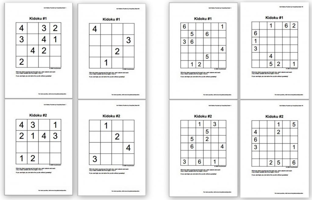 Free Sudoku Puzzles For Kids - Homeschool Den | Sudoku Printable Middle School