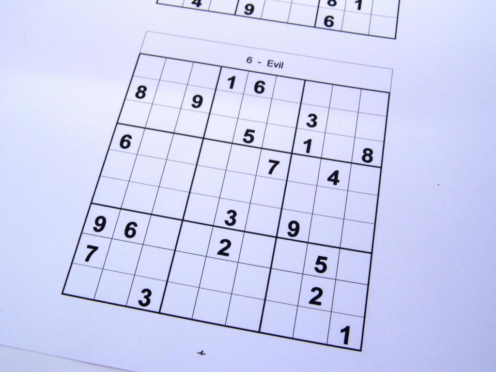 Free Sudoku Puzzles – Free Sudoku Puzzles From Easy To Evil Level | Printable Sudoku Booklet Free