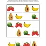 Fruit Sudoku Puzzles {Free Printables} | Bc Eten   Groenten En Fruit | Printable Sudoku For Kindergarten