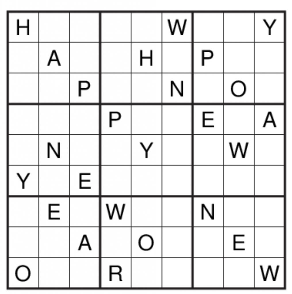 Get Set Go: Puzzle No 124: Alphabet Sudoku | Printable Alphabet Sudoku