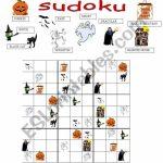 Halloween Sudoku   Esl Worksheetgreek Professor | Printable Halloween Sudoku