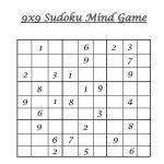 Hard Level Sudoku – Mind Game Printable Sheets For Children | 6 X 6 Sudoku Printable