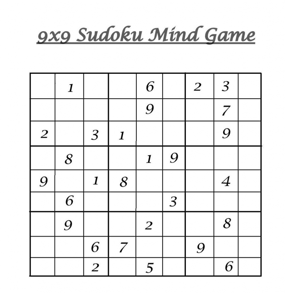 Hard Level Sudoku – Mind Game Printable Sheets For Children | 6 X 6 Sudoku Printable