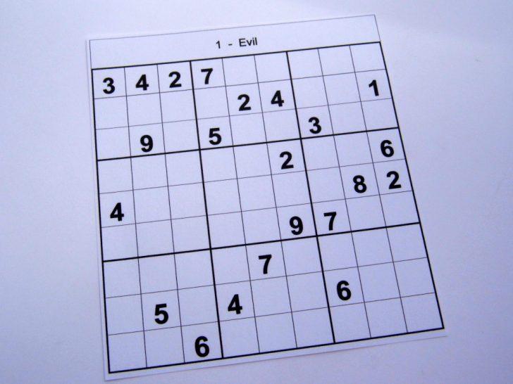 Hard Printable Sudoku 6 Per Page
