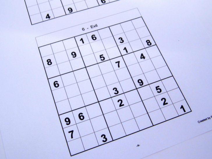 Printable Sudoku 6 Per Page Hard
