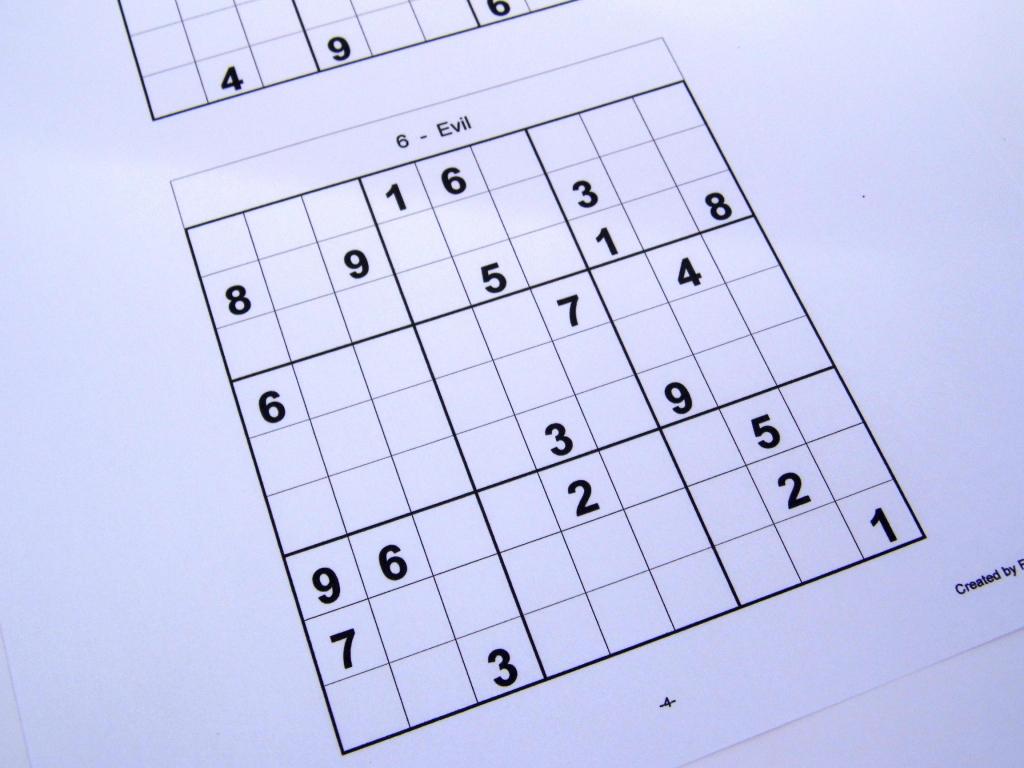 Hard Printable Sudoku Puzzles 6 Per Page – Book 1 – Free Sudoku Puzzles | Printable Sudoku One Per Page