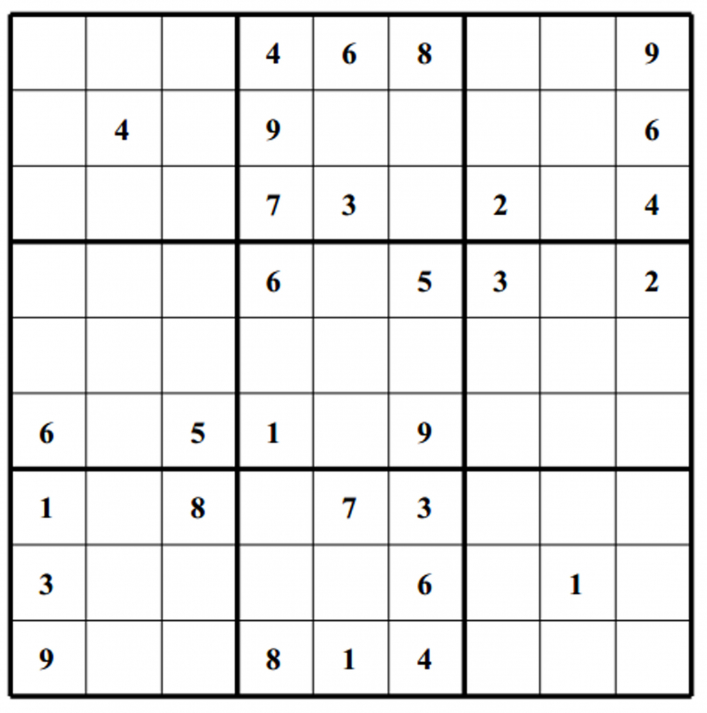 Hard Puzzle | Free Sudoku Puzzles | Printable Sudoku Grids Blank 4 Per Page