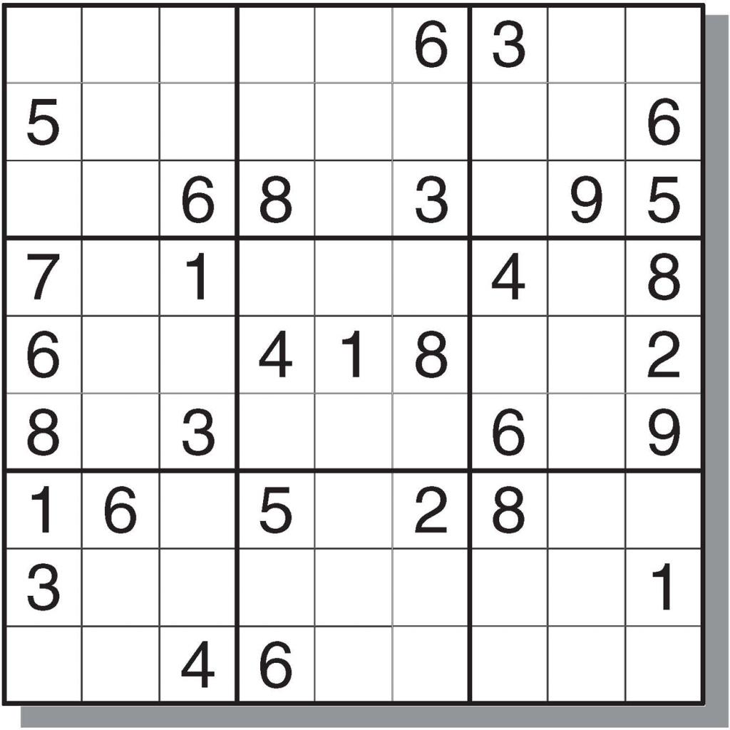 Hard Sudoku Printable - Canas.bergdorfbib.co | Printable Sudoku Game Medium