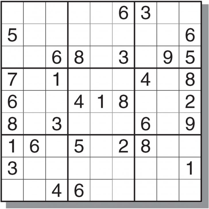Printable Sudoku Hard Level
