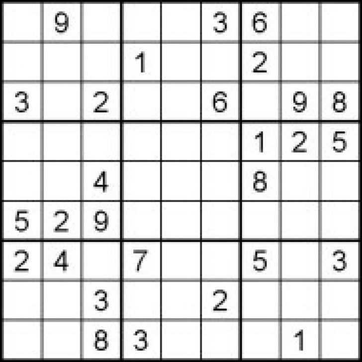 Printable Sudoku Puzzles Medium #1