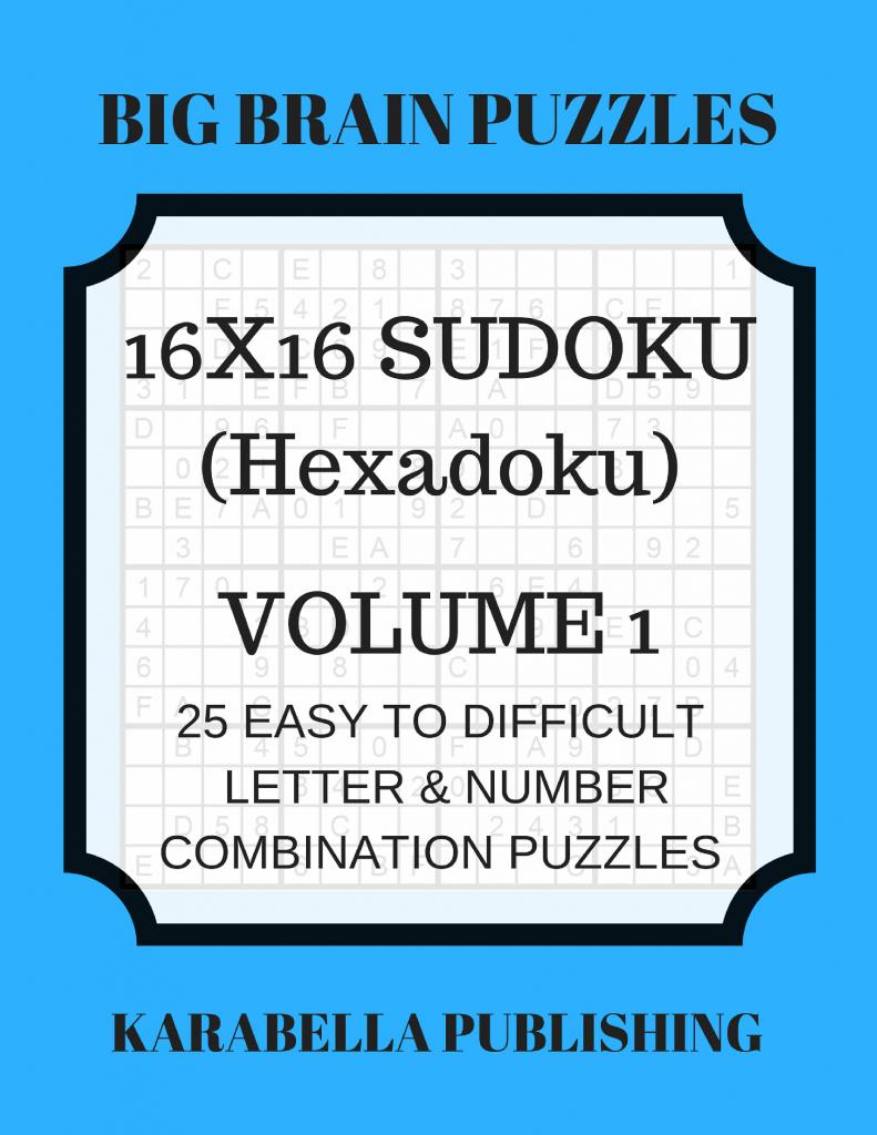 Hexadoku Sudoku 16X16 16X16 Sudoku Sudoku Print Mega | Etsy | 16X16 Sudoku Printable