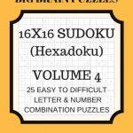 Hexadoku Sudoku 16X16 16X16 Sudoku Sudoku Print Mega | Etsy | Printable Sudoku 16