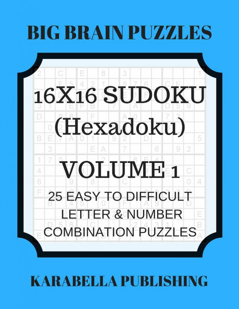 Hexadoku Sudoku 16X16 16X16 Sudoku Sudoku Print Mega | Etsy | Printable Sudoku 16*16