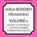 Hexadoku Sudoku 16X16 16X16 Sudoku Sudoku Print Mega | Etsy | Printable Sudoku 16X16