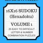 Hexadoku Sudoku 16X16 16X16 Sudoku Sudoku Print Mega | Etsy | Printable Sudoku 16X16 Easy