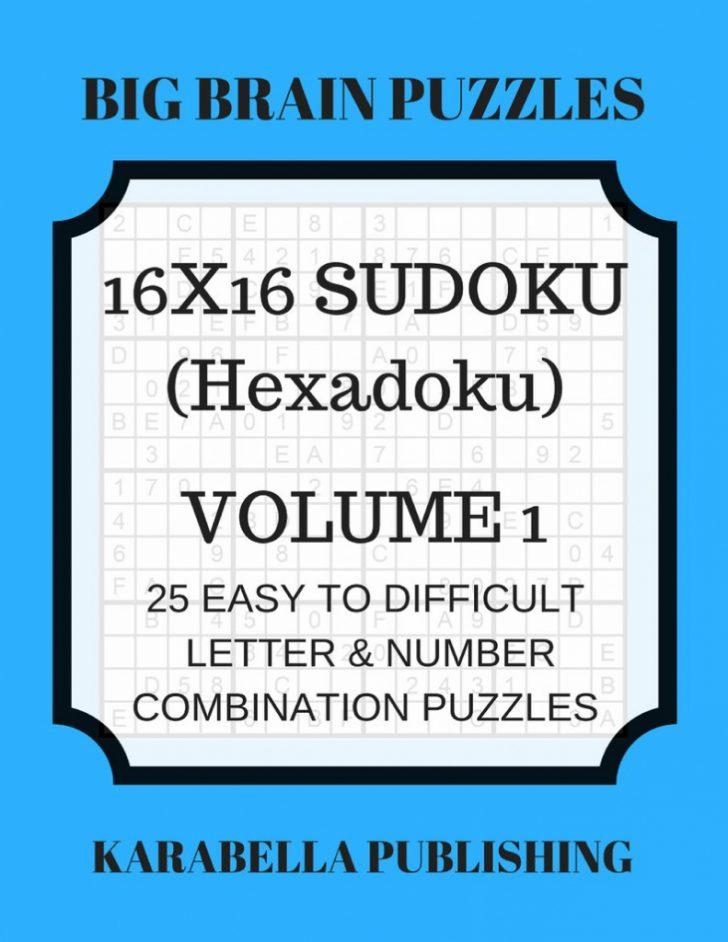 Printable Sudoku 16X16 Numbers