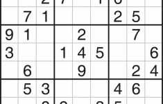 Printable Sudoku Medium-Hard