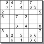 Images :free Sudoku Printable Sheets , Gallery For > Medium Sudoku | Printable Ninja Sudoku
