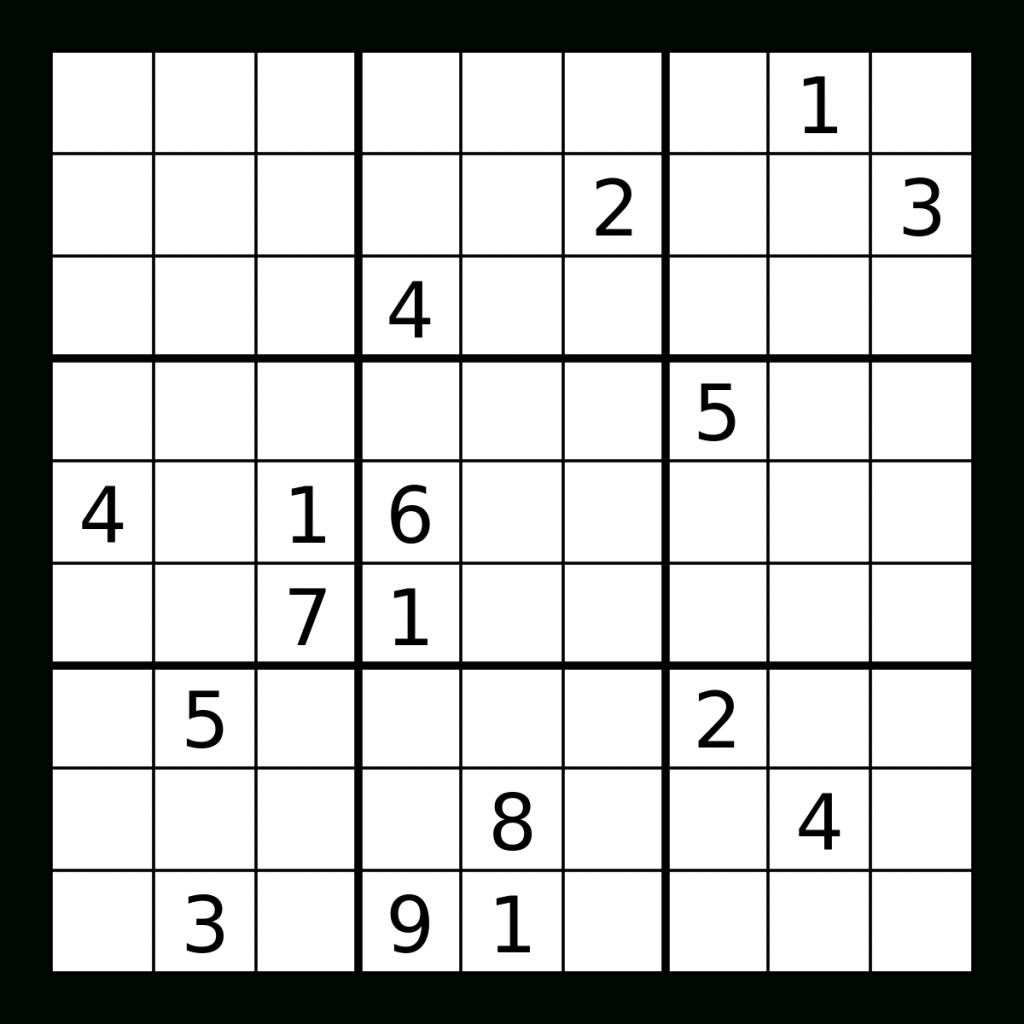 Is A 'legit' Sudoku Puzzle Supposed To Be Symmetrical? - Puzzling | Printable Sudoku Fill Ins