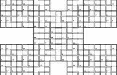Killer Samurai Sudoku | Puzzles | Samurai, Puzzle, Challenging Puzzles | Printable Samurai Sudoku X