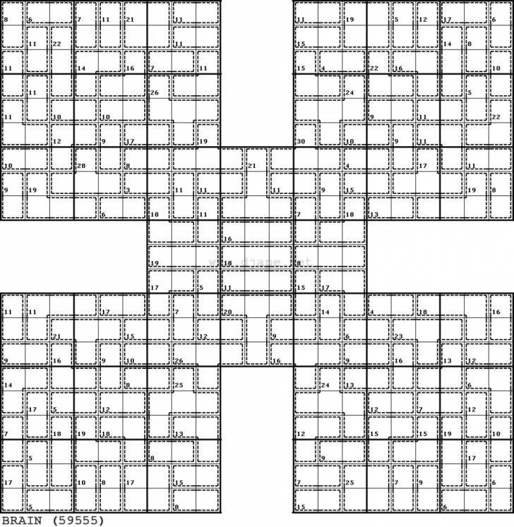 Printable Samurai Sudoku X