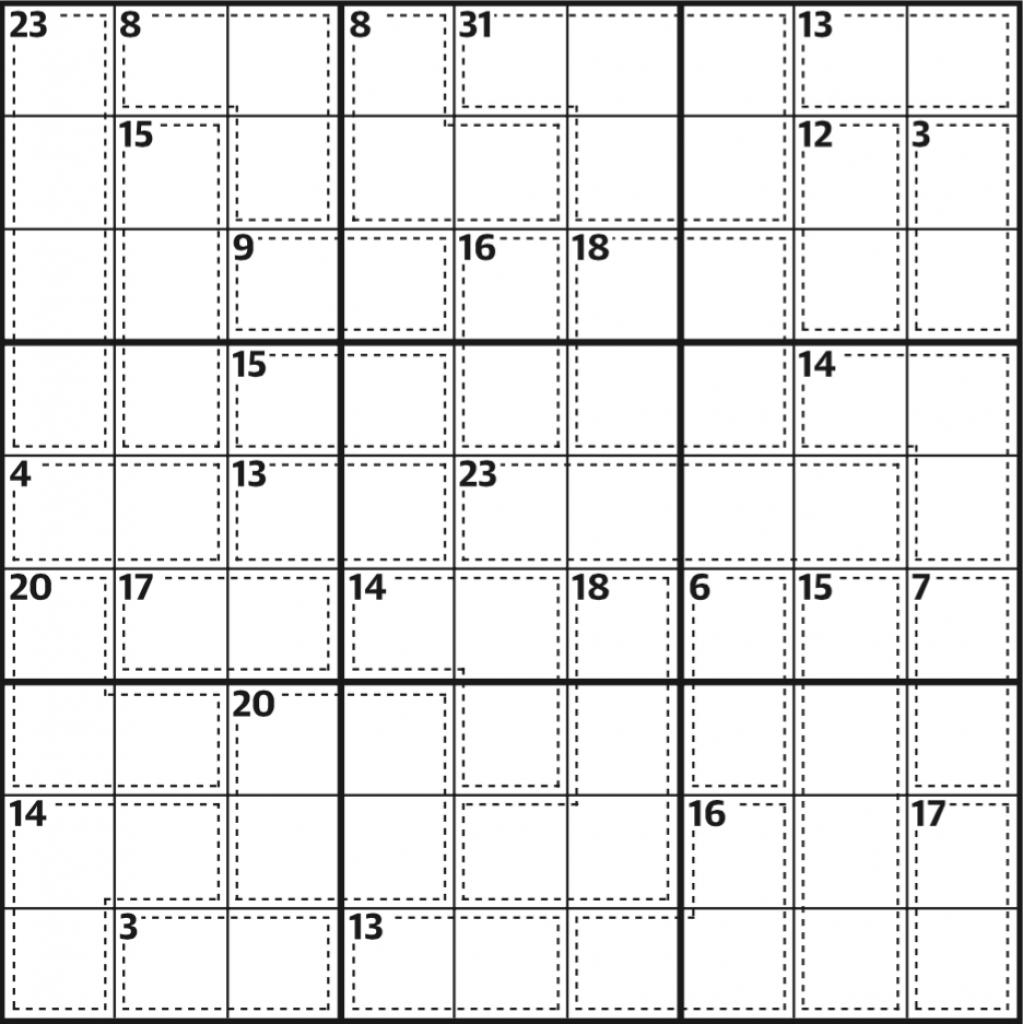 Killer Sudoku 589 | Life And Style | The Guardian | Sudoku Printable Version