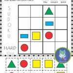 Km Classroom: 2D Shapes Activities, Worksheets, Posters, Games And More | Printable Sudoku With Shapes