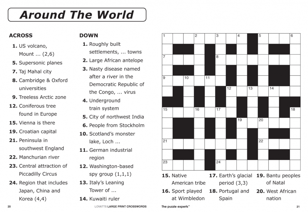 Large Print Crosswords Magazine - Lovatts Crossword Puzzles Games | Printable Sudoku Crossword