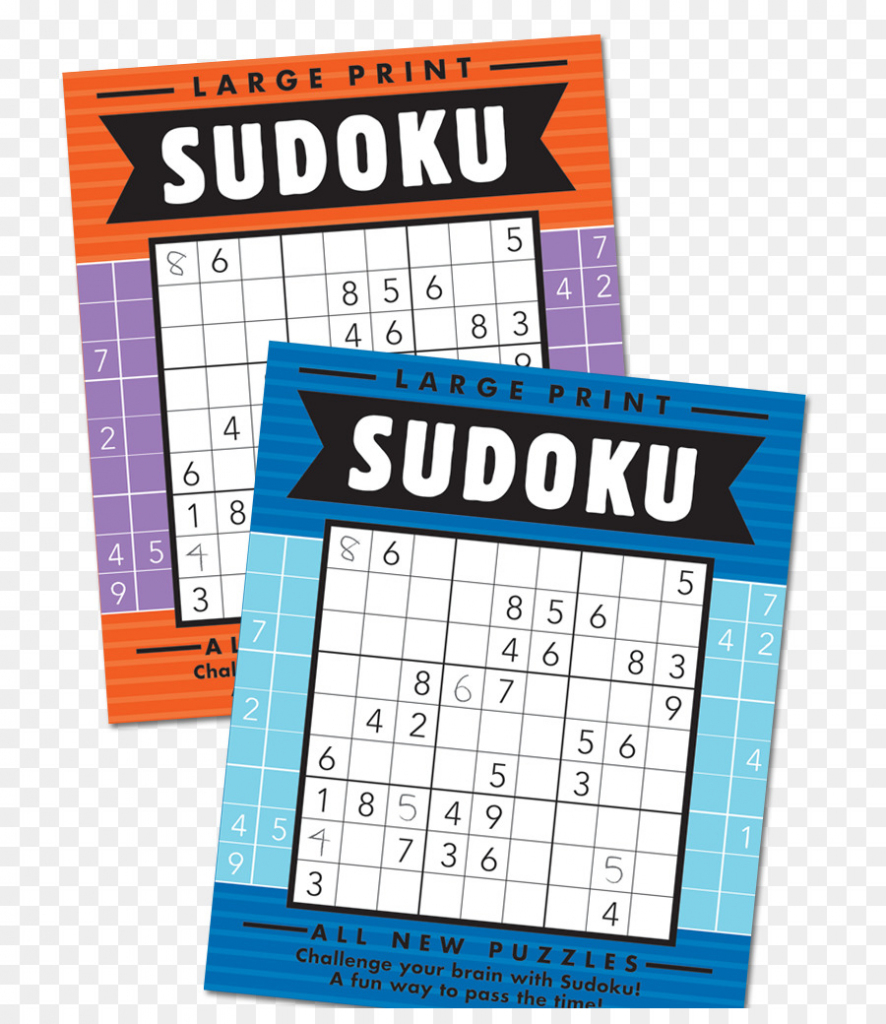 Large Print Sudoku Super Sudoku Puzzle Book - Book Png Download | Printable Sudoku Book Free Download