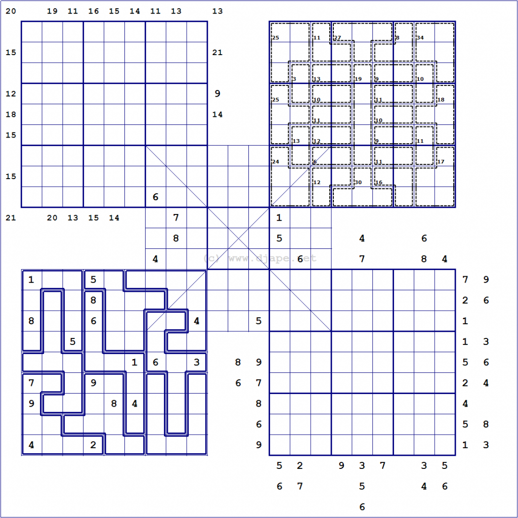 Loco Sudoku | Printable Diagonal Sudoku