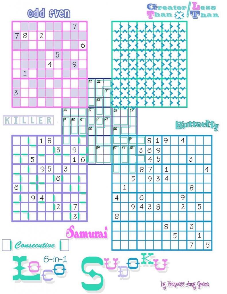 Loco Sudoku | Puzzles---Crossword-Sudoku-Jigsaw&???? | Sudoku | Free Printable Variety Sudoku