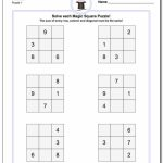 Magic Square Puzzles This Page Has 3X3, 4X4 And 5X5 Magic Square | Printable Sudoku Puzzles 3X3