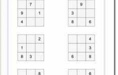 Printable Sudoku Sum