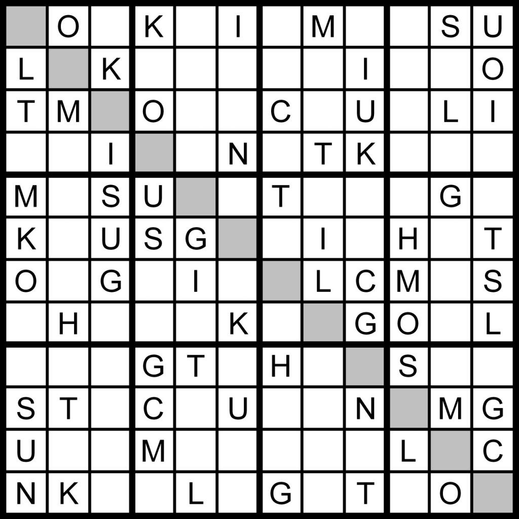 Magic Word Square: July 2011 | Printable Sudoku 8X8