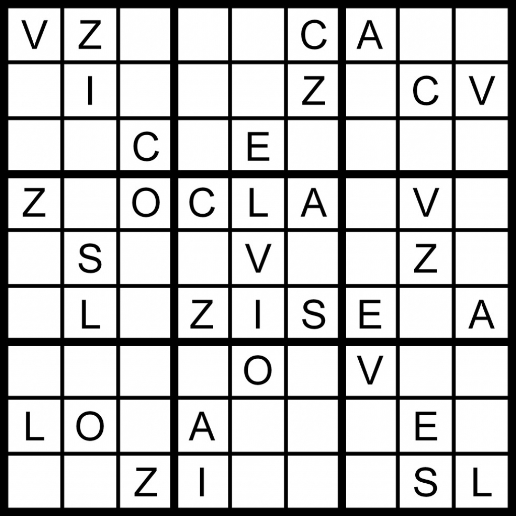 Magic Word Square: March 2011 | Printable Sudoku 8X8