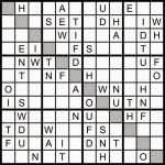 Magic Word Square: Sunday Challenge: New Word Sudoku Puzzle For | Printable Challenger Sudoku 16X16