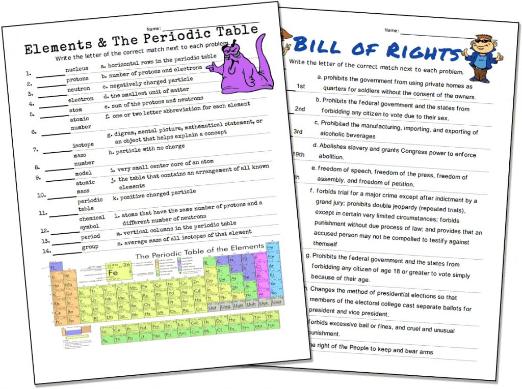 Match-Up Worksheet Maker | Printable Sudoku Teacher's Corner
