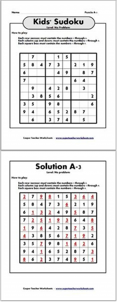 Math Riddles Kindergarten Worksheet Brain Games | Www.galleryneed | Printable Sudoku For Ks2