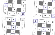 Math Worksheets: Multiplication And Division Grid Puzzle Worksheets | Printable Sudoku Billions