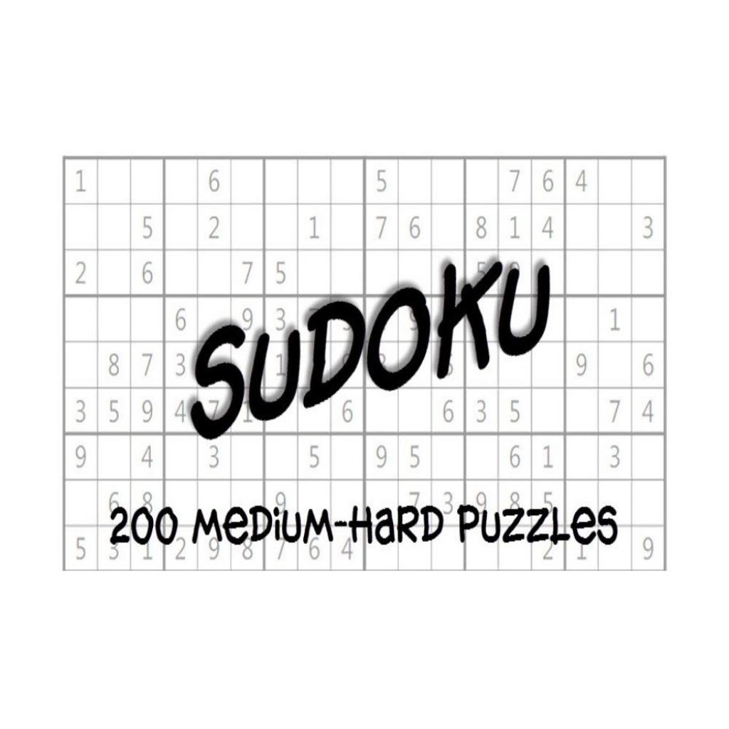 Medium-Hard Sudoku Puzzles Answer Keys E-Book 200 Printable | Etsy | Printable Sudoku And Keys