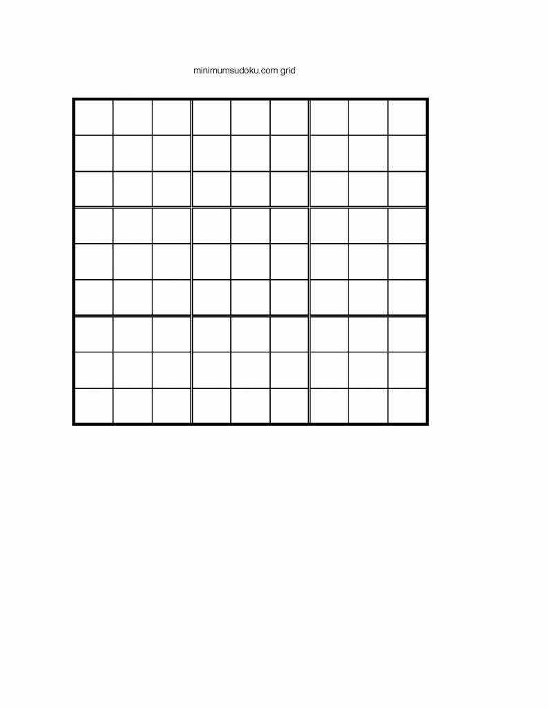 Minimum Sudoku | Printable Sudoku X