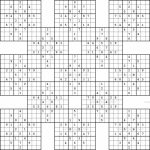 Monster Sudoku 16X16 Printable | Www.topsimages | Printable Monster Sudoku 16X16