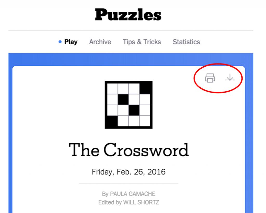 New York Times Crossword – Help | Printable Sudoku New York Times