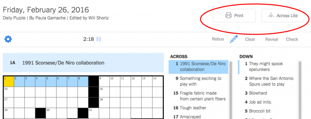 New York Times Crossword – Help | Printable Sudoku Nyt