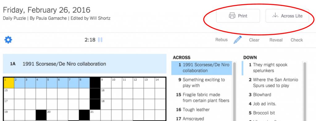 New York Times Crossword – Help | Printable Sudoku Nyt