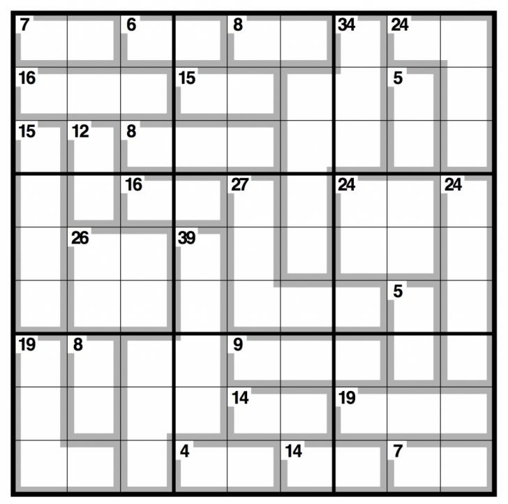 Printable Killer Sudoku Easy